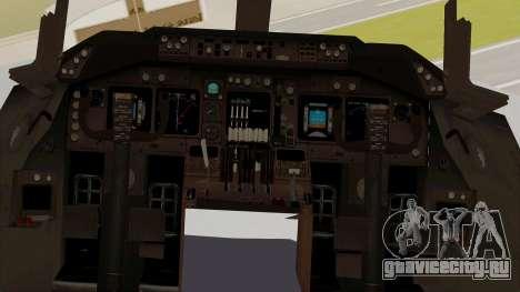 Boeing 747-8I Philippine Airlines для GTA San Andreas вид изнутри