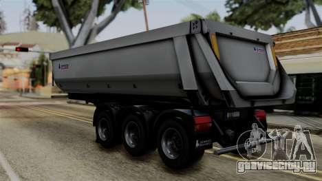 Schmied Bigcargo Solid Trailer Stock для GTA San Andreas вид слева