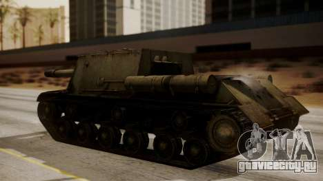 ISU-152 from World of Tanks для GTA San Andreas вид сзади слева
