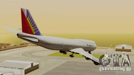 Boeing 747-8I Philippine Airlines для GTA San Andreas вид слева