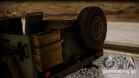 UAZ MGS5 TPP для GTA San Andreas вид сзади