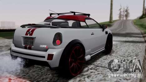 Mini Cooper S Weeny Issi для GTA San Andreas вид слева