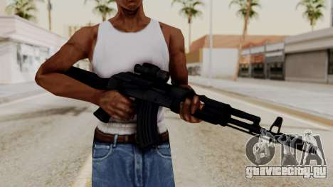 AK-103 with Rifle Dot Aimpoint M2 для GTA San Andreas третий скриншот