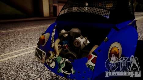 Volkswagen Beetle Vocho-Buggy для GTA San Andreas вид сзади