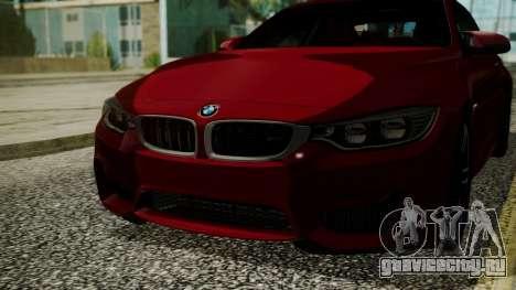 BMW M4 Coupe 2015 Walnut Wood для GTA San Andreas вид изнутри