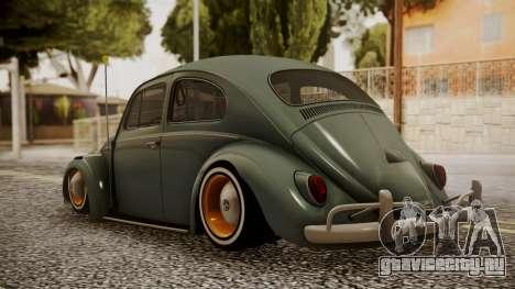 Volkswagen Beetle Aircooled для GTA San Andreas вид слева