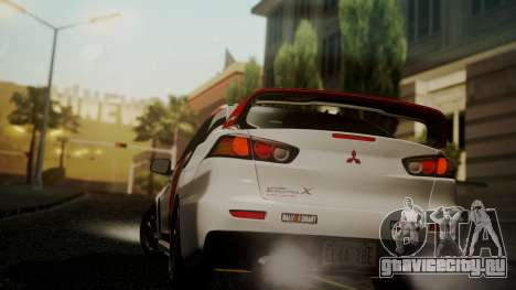 Mitsubishi Lancer Evolution X 2015 Final Edition для GTA San Andreas вид слева
