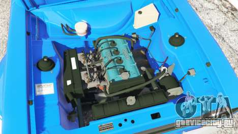 Ford Escort Mk1 v1.1 [blue] для GTA 5 вид сзади справа