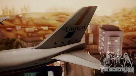 Boeing 747-100 United Airlines Friend Ship для GTA San Andreas вид сзади слева