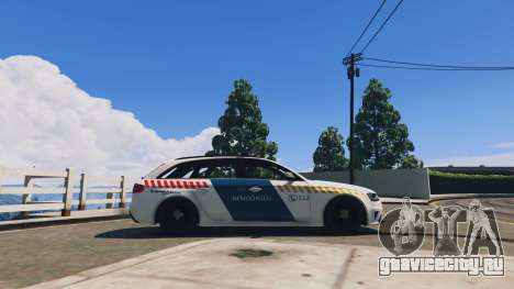 Audi RS4 Avant Hungarian Police для GTA 5 вид слева