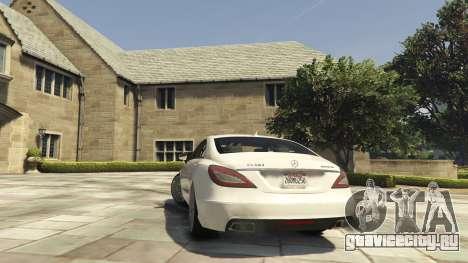 Mercedes-Benz CLS 6.3 AMG [BETA] для GTA 5 вид сзади слева