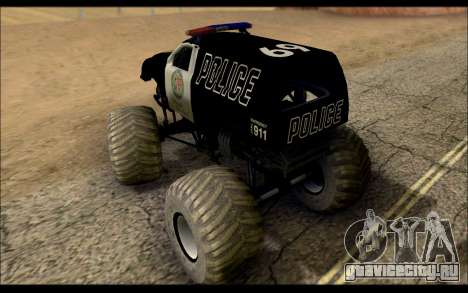 The Police Monster Trucks для GTA San Andreas вид сзади слева