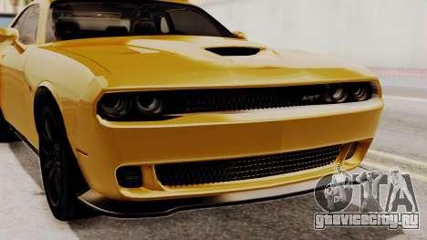 Dodge Challenger SRT Hellcat 2015 IVF PJ для GTA San Andreas вид изнутри