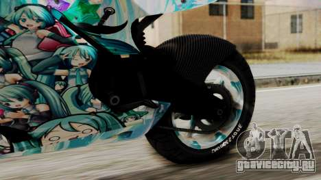 Bati Motorcycle Hatsune Miku Itasha для GTA San Andreas вид справа