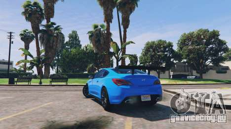 Hyundai Genesis 2013 v0.1 для GTA 5 вид сзади
