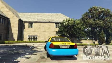 Ford Crown Victoria Taxi v1.1 для GTA 5 вид сзади слева