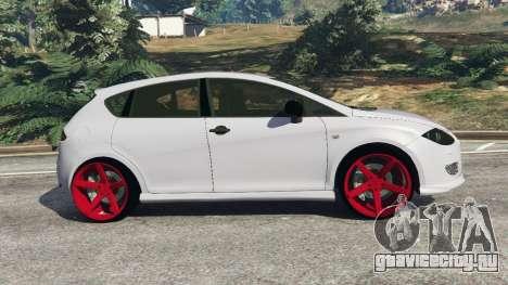 SEAT Leon II 2010 v1.1 для GTA 5 вид слева