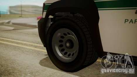 GTA 5 Declasse Granger Park Ranger для GTA San Andreas вид сзади слева