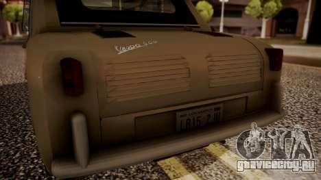Vespa 400 1958 для GTA San Andreas вид сзади