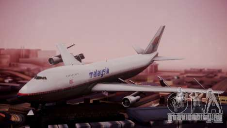 Boeing 747-200 Malaysia Airlines для GTA San Andreas