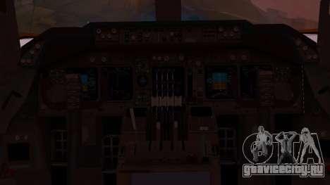 Boeing 747-200 Malaysia Airlines для GTA San Andreas вид изнутри