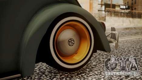 Volkswagen Beetle Aircooled для GTA San Andreas вид сзади слева