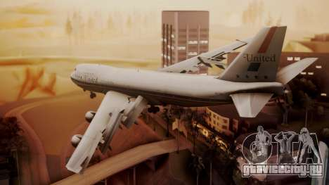 Boeing 747-100 United Airlines Friend Ship для GTA San Andreas вид слева