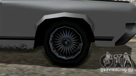 Sabre Turbo from Vice City Stories для GTA San Andreas вид справа