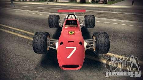 Ferrari 312 F1 для GTA San Andreas вид слева
