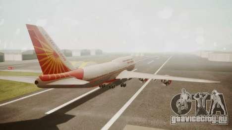Boeing 747-8I Air India для GTA San Andreas вид слева