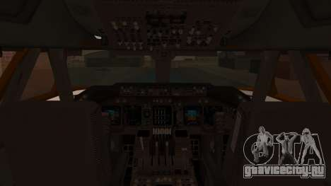 Boeing 747SR All Nippon Airways (NC) для GTA San Andreas вид изнутри