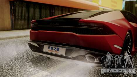 Lamborghini Huracan LP-610 VELLANO для GTA San Andreas вид сбоку