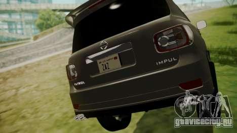 Nissan Patrol IMPUL 2014 для GTA San Andreas вид сзади