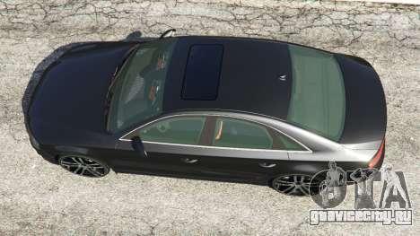 Audi A8 для GTA 5 вид сзади