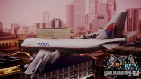 Boeing 747-200 Malaysia Airlines для GTA San Andreas вид слева