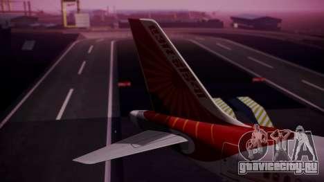 Airbus A319-100 Air India для GTA San Andreas вид сзади слева