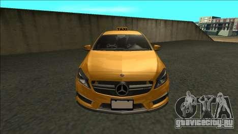 Mercedes-Benz A45 AMG Taxi 2012 для GTA San Andreas вид справа