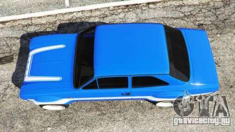 Ford Escort Mk1 v1.1 [blue] для GTA 5 вид сзади