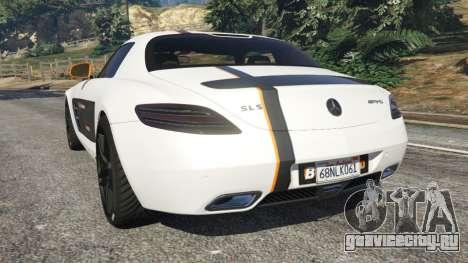 Mercedes-Benz SLS AMG Coupe для GTA 5 вид сзади слева