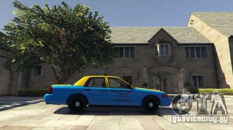Ford Crown Victoria Taxi v1.1 для GTA 5 вид слева