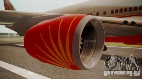 Boeing 747-8I Air India для GTA San Andreas вид справа