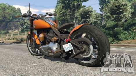 Harley-Davidson Fat Boy Lo Racing Bobber v1.2 для GTA 5 вид сзади слева