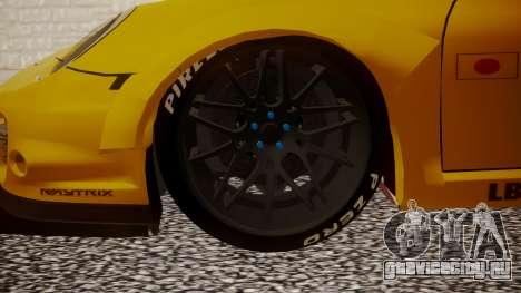 Porsche 997 Liberty Walk для GTA San Andreas вид сзади слева