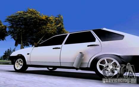 ВАЗ 2109 Турбо для GTA San Andreas вид сзади слева