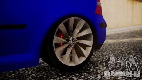 Volkswagen Golf 4 для GTA San Andreas вид сзади слева
