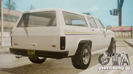 GTA 5 Declasse Rancher XL Police IVF для GTA San Andreas вид слева