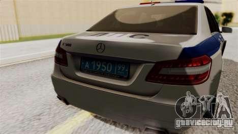 Mercedes-Benz Е500 МВД ГИБДД для GTA San Andreas вид сзади