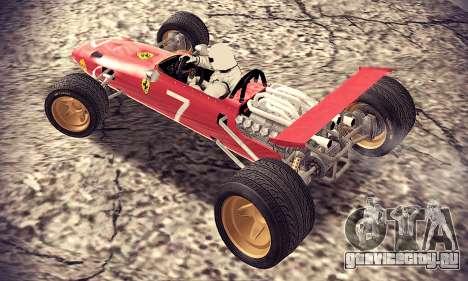 Ferrari 312 F1 для GTA San Andreas вид сзади слева