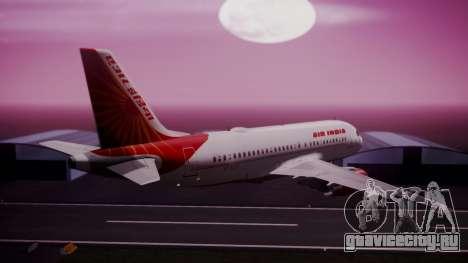 Airbus A319-100 Air India для GTA San Andreas вид слева