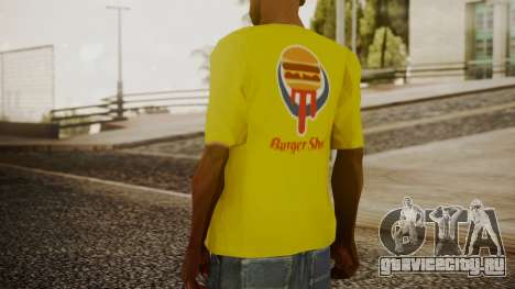 Burger Shot T-shirt Yellow для GTA San Andreas третий скриншот